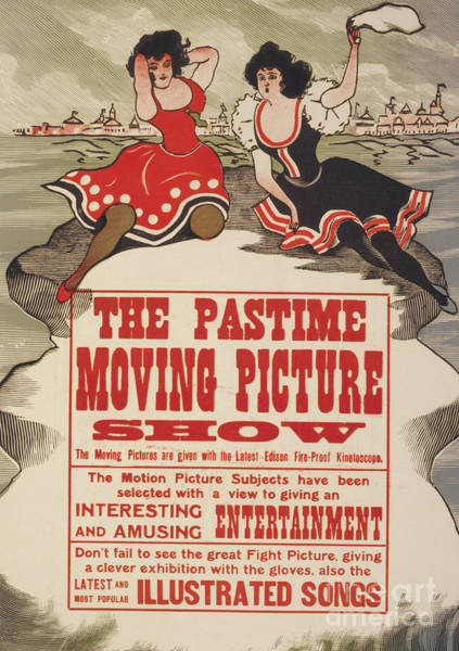 Wall Art - Painting - The Pastime Moving Picture Show, 1913 by American School