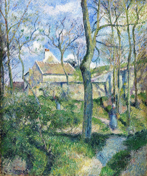 Wall Art - Painting - The Path To Les Pouilleux, Pontoise - Digital Remastered Edition by Camille Pissarro
