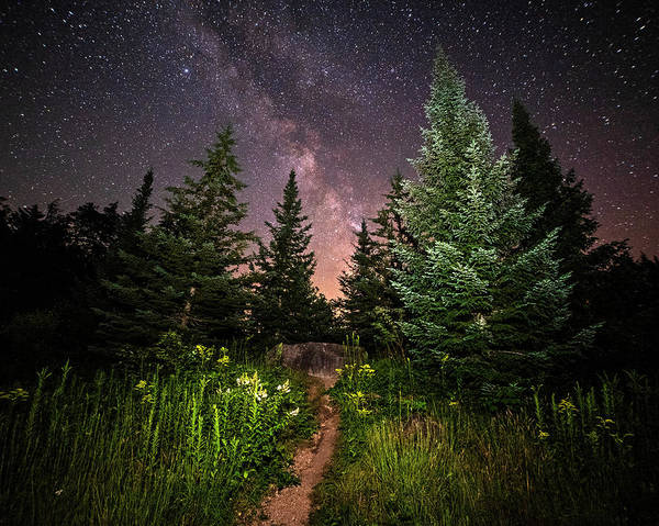Photograph - The Path To The Milky Way In Albany New Hampshire by Toby McGuire