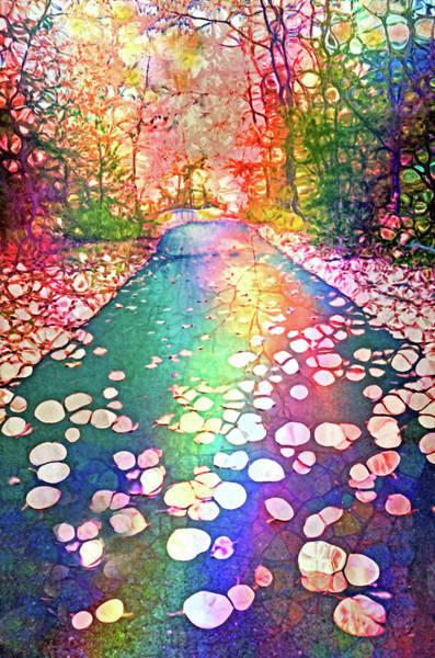 The Path Where Rainbows Meet Art Print