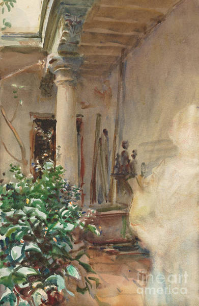 Wall Art - Painting - The Patio, 1908 by John Singer Sargent