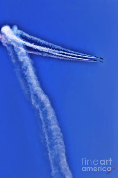 Photograph - The Patriots Jet Team Up And Over by Blake Richards