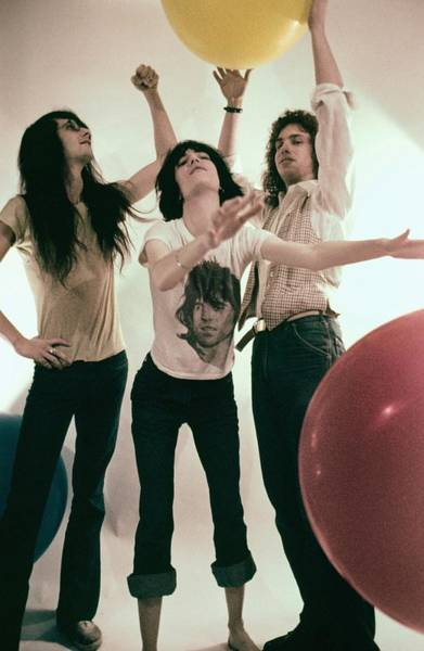 Photograph - The Patti Smith Group Portrait Session by Michael Ochs Archives