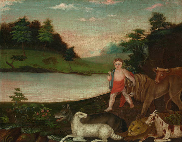 Wall Art - Painting - The Peaceable Kingdom, 1818 by Edward Hicks