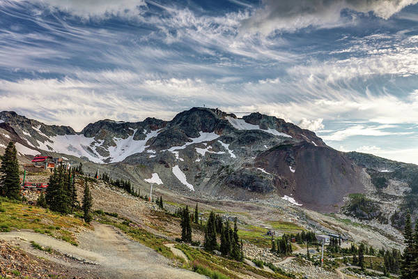 Photograph - The Peak Of Whistler Mountain With Amazing Cloud Formations by Pierre Leclerc Photography
