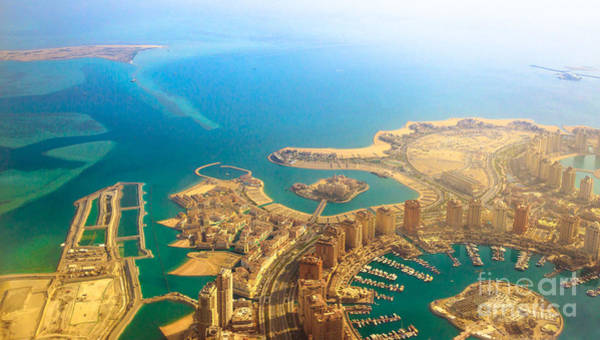 Photograph - The Pearl Qatar Aerial by Benny Marty