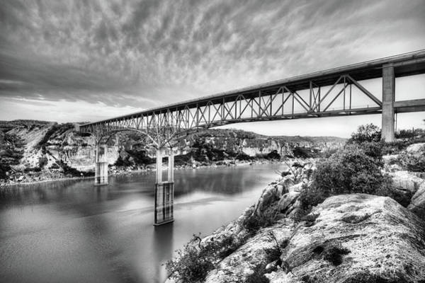 Photograph - The Pecos River Bridge Black And White by JC Findley