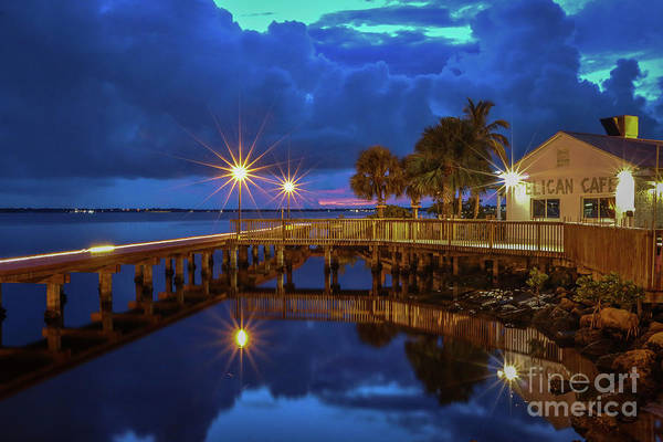 Photograph - The Pelican At Night by Tom Claud