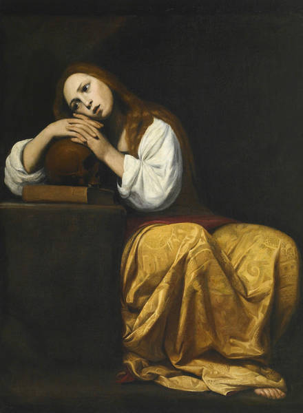 Painting - The Penitent Mary Magdalene by Giacomo Galli