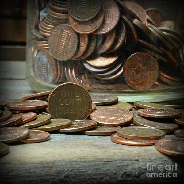 Wall Art - Photograph - The Penny Jar Square Format by Paul Ward