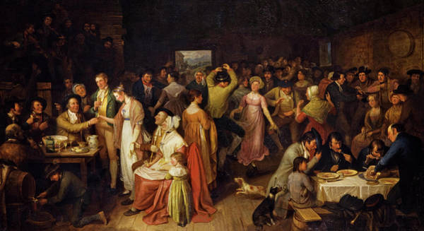 Redemption Painting - The Penny Wedding, 1819 by Alexander Carse