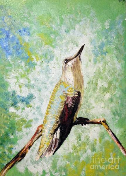 Painting - The Perch by Abbie Shores