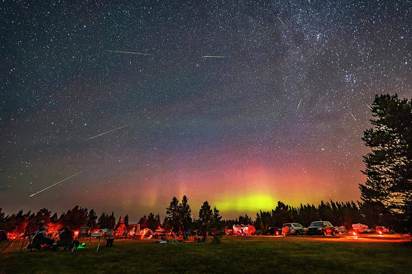 Wall Art - Photograph - The Perseid Meteor Shower And An Aurora by Alan Dyer