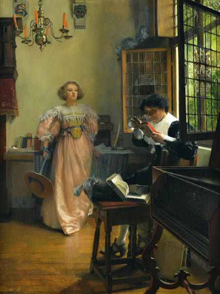 Wall Art - Painting - The Persistent Reader by Lady Laura Theresa Alma-Tadema