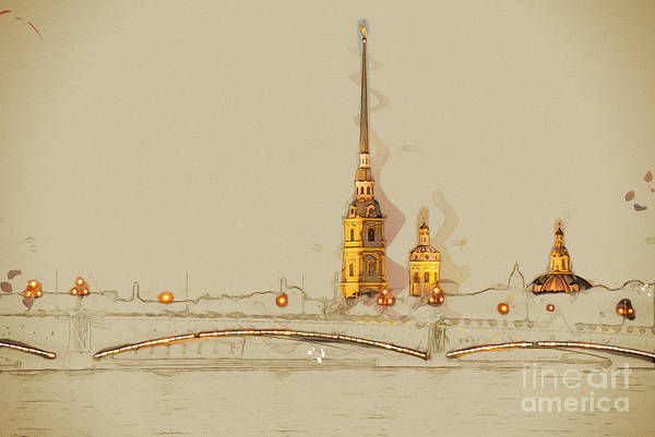 Wall Art - Digital Art - The Peter And Paul Fortress, Saint by Romas photo