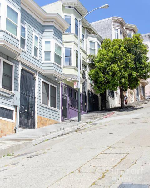 Photograph - The Peter Macchiarini Kearny Street Steps San Francisco R468 by Wingsdomain Art and Photography
