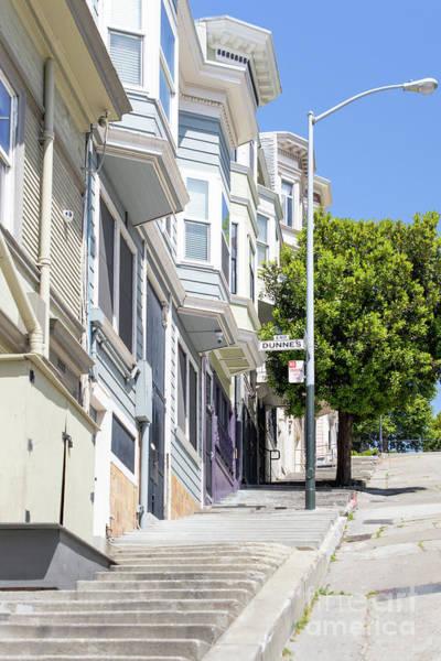 Photograph - The Peter Macchiarini Kearny Street Steps San Francisco R476 by Wingsdomain Art and Photography