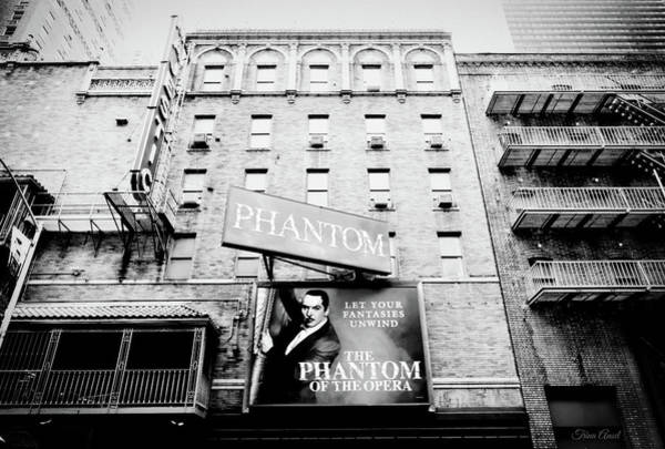 Photograph - The Phantom Of The Opera In Black And White by Trina Ansel