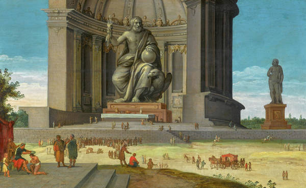 Wall Art - Painting - The Phidian Statue Of Zeus At Olympia by Jacob van der Ulft