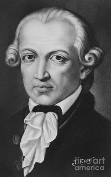 Wall Art - Painting - The Philosopher Immanuel Kant by German School