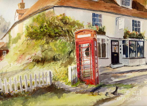 Painting - The Phone Box, Appledore by Beatrice Cloake