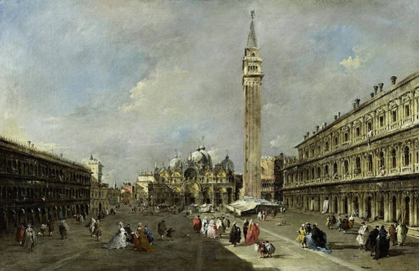 Wall Art - Painting - The Piazza San Marco, Venice, 1780 by Francesco Guardi