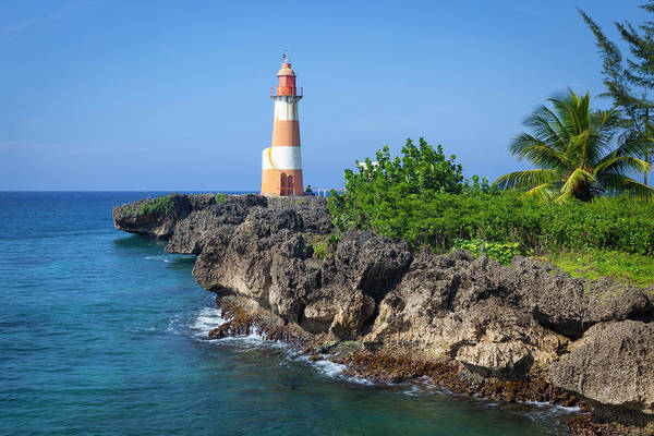 Jamaica Photograph - The Picturesque Folly Point Lighthouse by Douglas Pearson