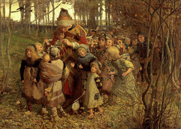 Payment Painting - The Pied Piper Of Hamelin, 1881 by James Elder Christie