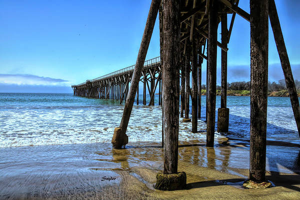Photograph - The Pier At San Simeon Home Of Hearst Castle by Floyd Snyder
