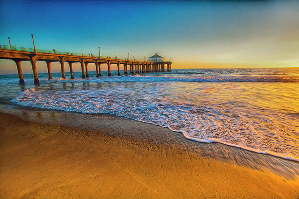 The Pier At Sunset Art Print by Fernando Margolles