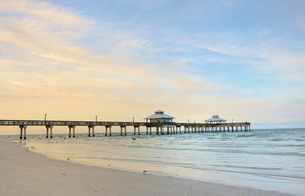 Pier Photograph - The Pier In Fort Myers At Dawn, Florida by Pidjoe