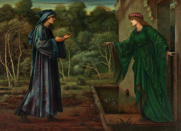 Wall Art - Painting - The Pilgrim At The Gate Of Idleness by Edward Burne-Jones