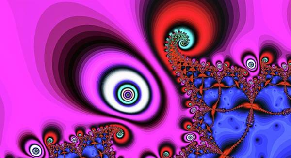 Digital Art - The Pink Eye Of The Magician by Don Northup
