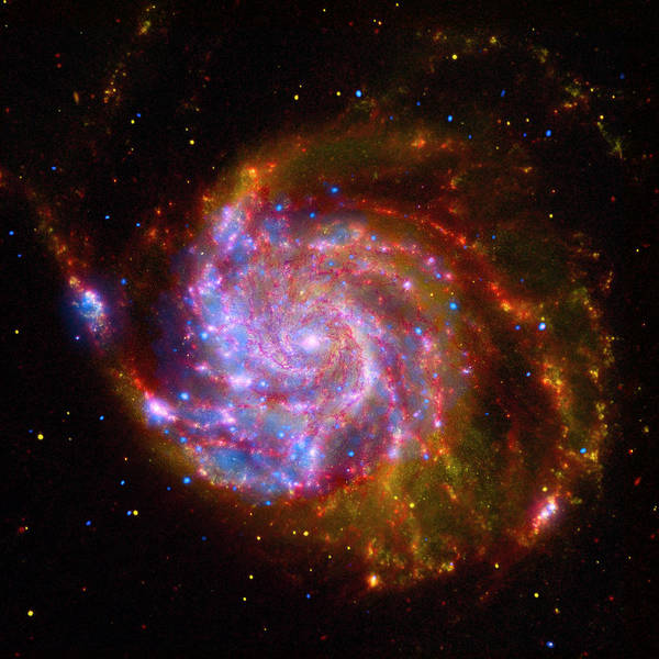 Photograph - The Pinwheel Galaxy Composite by Paul W Faust - Impressions of Light