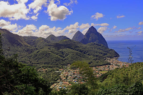 Photograph - The Pitons by Tony Murtagh
