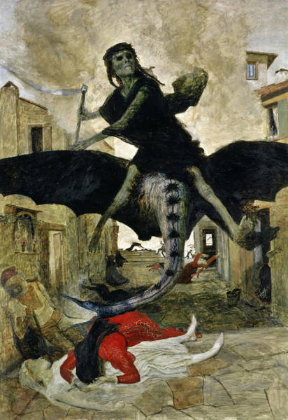 Wall Art - Painting - The Plague - Die Pest by Arnold Bocklin