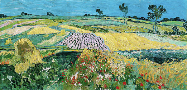 Wall Art - Painting - The Plain Of Auvers, Wheat Fields Near Auvers - Digital Remastered Edition by Vincent van Gogh