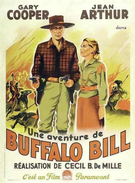 Wall Art - Digital Art - The Plainsman Lobby Promo - French Version 1936 by Daniel Hagerman