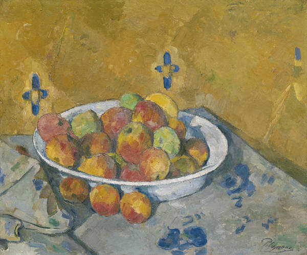 Painting - The Plate Of Apples, Circa 1877 by Paul Cezanne
