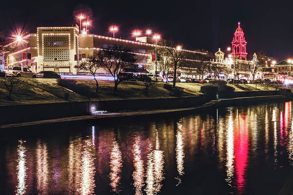 Country Club Plaza Photograph - The Plaza Lights Along The Water - Kansas City by Gregory Ballos