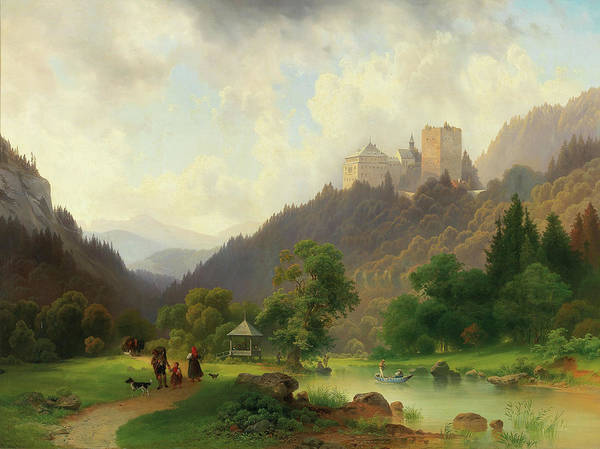 Wall Art - Painting - The Pleasures Of Summer At The Foot Of A Castle by Josef Holzer