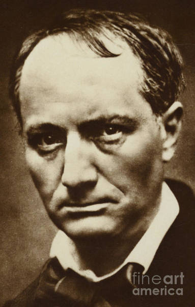 Wall Art - Photograph - The Poet Baudelaire by French School