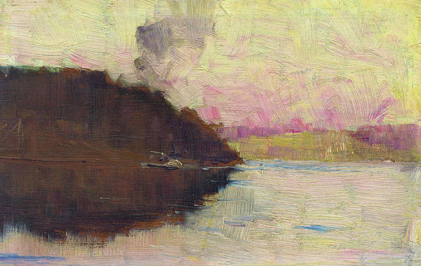 Wall Art - Painting - The Point, Sunset - Digital Remastered Edition by Arthur Streeton