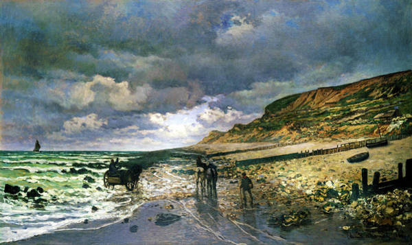 Wall Art - Painting - The Pointe De La Heve At Low Tide - Digital Remastered Edition by Claude Monet