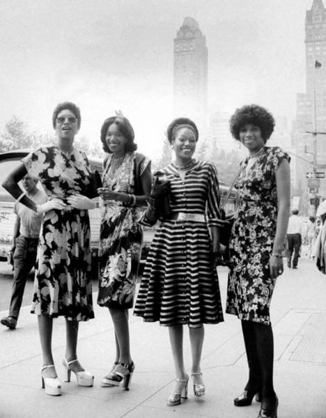 June Photograph - The Pointer Sisters L. To R. Ruth by New York Daily News Archive