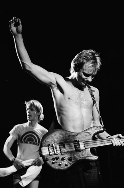 Wall Art - Photograph - The Police Perform Live by Richard Mccaffrey
