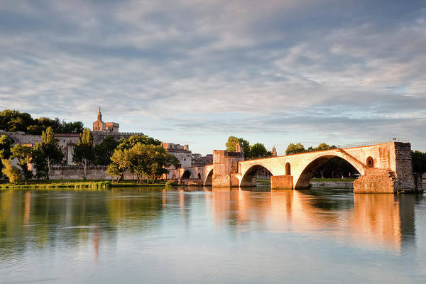 Rhone River Photograph - The Pont Davignon And The Rhone River by Julian Elliott Photography