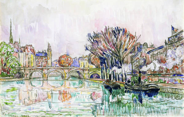 Wall Art - Painting - The Pont Neuf, Paris - Digital Remastered Edition by Paul Signac