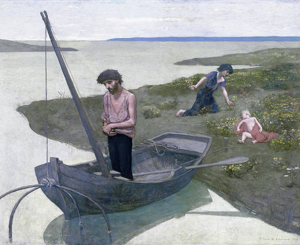 Wall Art - Painting - The Poor Fisherman - Digital Remastered Edition by Pierre Puvis de Chavannes
