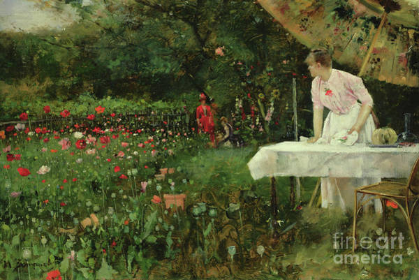 Painting - The Poppy Garden by Maurice Bompard
